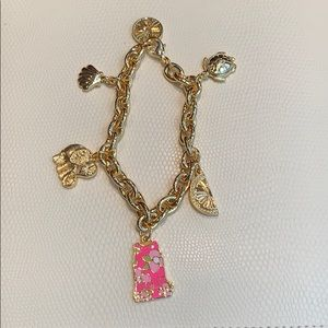 NEW Lilly Pulitzer charm bracelet